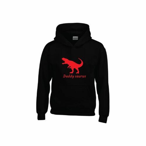 Daddy Dinosaur Mens Hoodie Fathers Saurus Gift Tee Sweatshirt Daddysaurus
