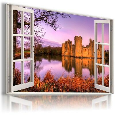 FOREST TREES SPRING View Canvas Wall Art Picture Large L449 NO FRAME  MATAGA .
