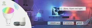WOOX-R9076-Smart-LED-GU10-RGB-weiss-2-4GHz-WiFi-Alexa-Google-free-APP