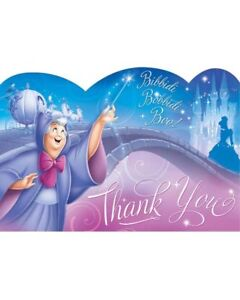 Cinderella-Thank-You-Postcards-Pack-Of-8-One-Size-Birthday-Party-Disney-Princess
