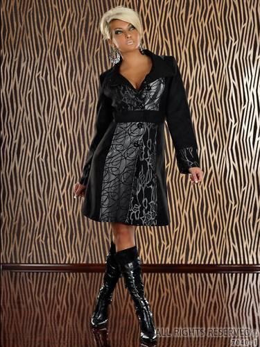 MANTEAU VESTE FEMME TENDANCE black ET silver size S