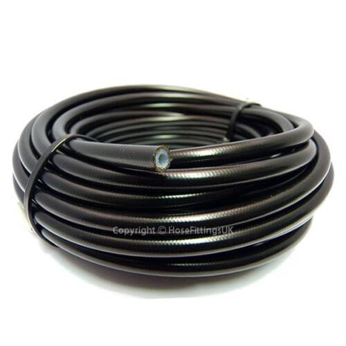"An 3 1//8/"" 3MM pvc noir inoxydable tressé ptfe frein tuyau de 1 mètre"