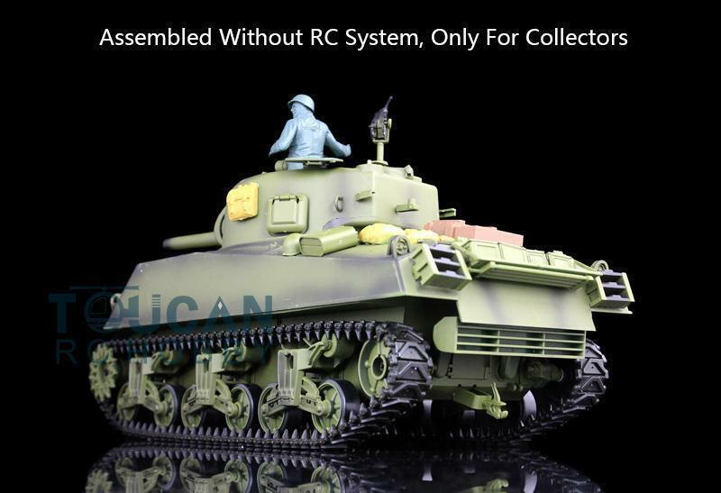 Plastic Version 2.4G 1//16 Scale 6.0 M4A3 Sherman RTR RC Tank Model 3898 Henglong