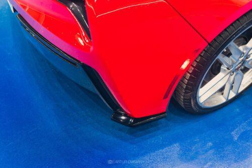 CUP Diffusor Seiten Ansatz SET SCHWARZ Chevrolet Corvette C7 Flaps Heckschürze