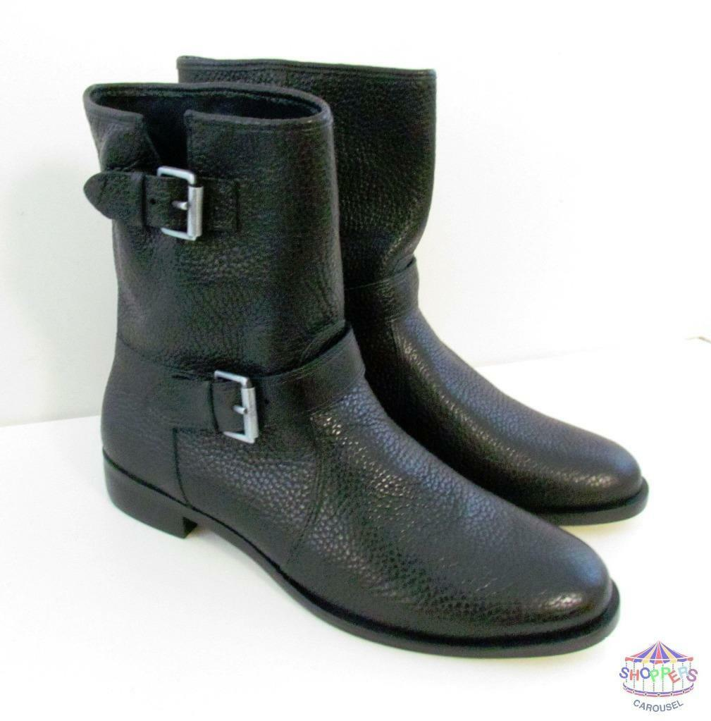 J Crew Biker Boots Buckle Size 9.5 style e0849 Motocycle Black NEW