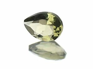 0.28cts drop/pear 4x5.5mm STANDARD CUT moldavite faceted cutted gem BRUS1369