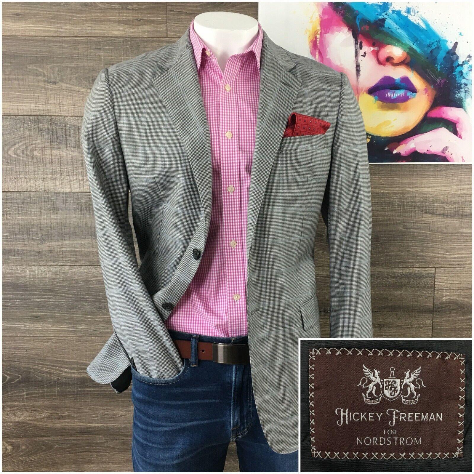 Hickey kostenlosman Addison herren Größe 42R Worsted wolleSport Coat jacke Blazer Suit