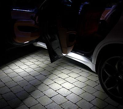 4x Tür Ausstiegsbleuchtung Umfeld beleuchtung SMD LED Xenon Can Weiß blau bus D6