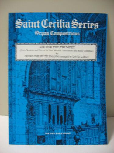 Air for Trumpet GP Telemann Saint Cecilia Series Organ Compositionns Sheet Music