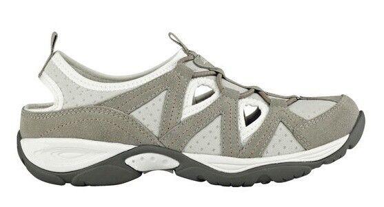 Easy Spirit Earthen athletic walking shoe suede Leder stretch taupe 5 Med NEU