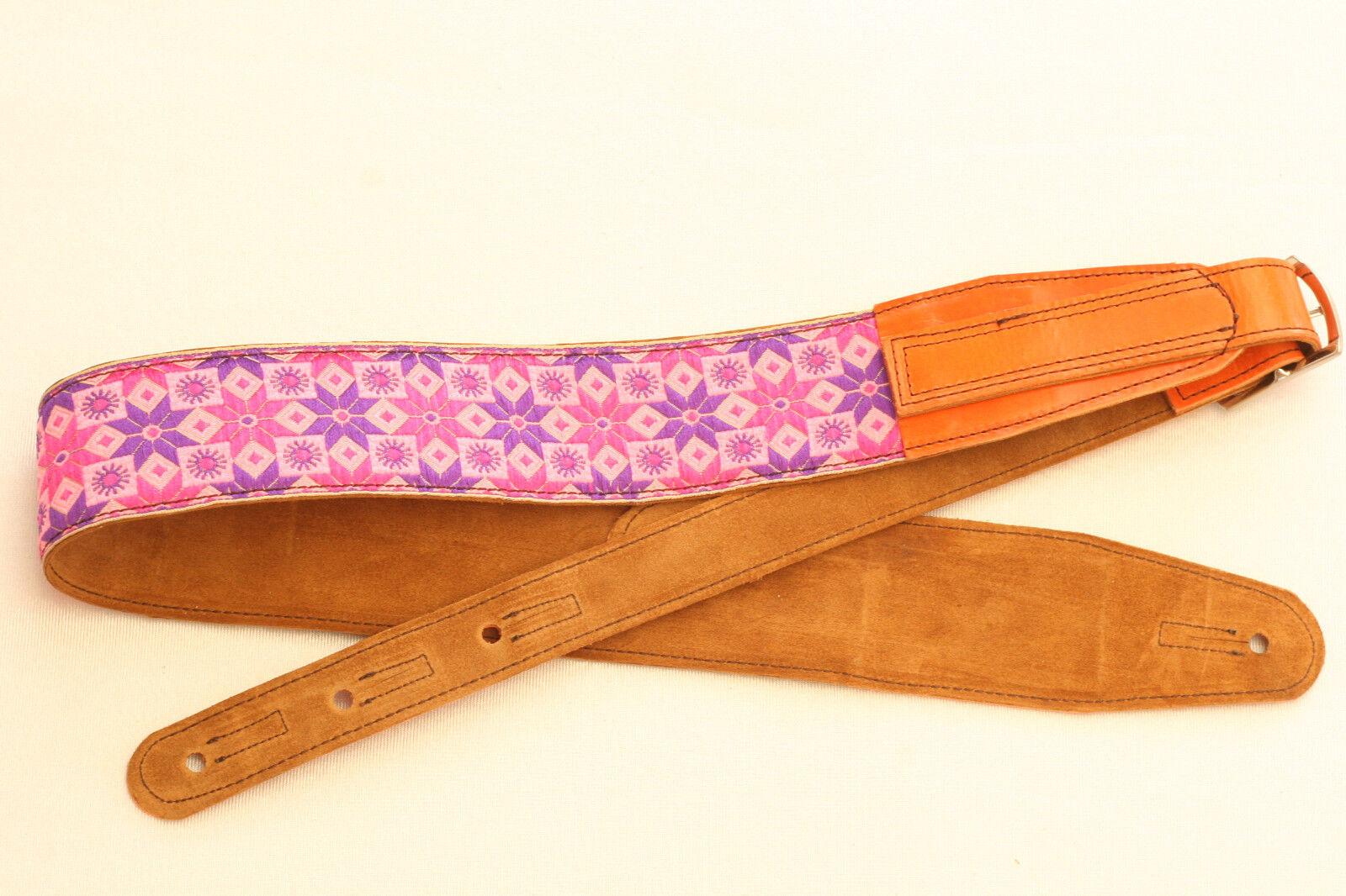Cinturón guitarras pardo Guitar Strap púrpura Star Star Star cuero hippie Leather b060de  marca famosa
