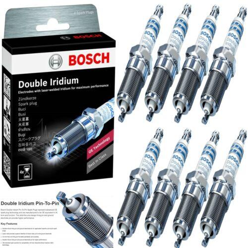 8 Bosch Double Iridium Spark Plug For 2009-2014 FORD E-150 V8-5.4L
