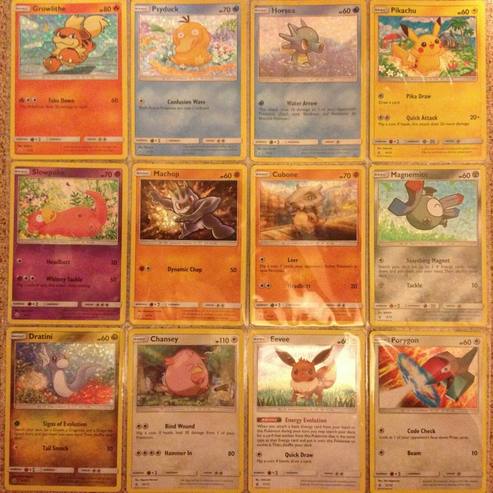 Complete Set of McDonalds Happy Meal 2019 UK Holo Pokemon Cards New