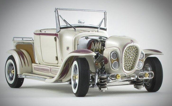 varm Rod 1932 Ford Built Drag Race bil Dragster A årgång GT 1 modellllerlerl 24 T 25 40