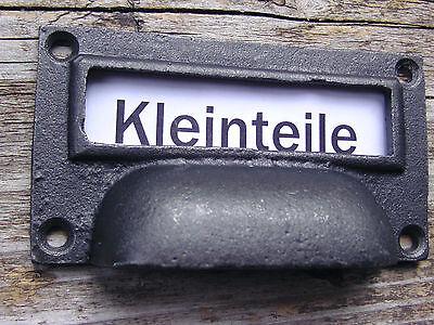 10pcs Möbelgriff Muschelgriff Etikettengriff Etikettenrahmen Apothekergriff