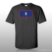 Guam Flag T-shirt Tee Shirt Free Sticker State United States Territory Of
