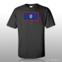 Guam Flag T-shirt Tee Shirt Free Sticker State United States Territory Of