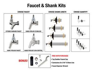 draft beer faucet shank kit kegerator faucets taps shanks rh ebay co uk draft beer faucet diagram beer faucet repair kit