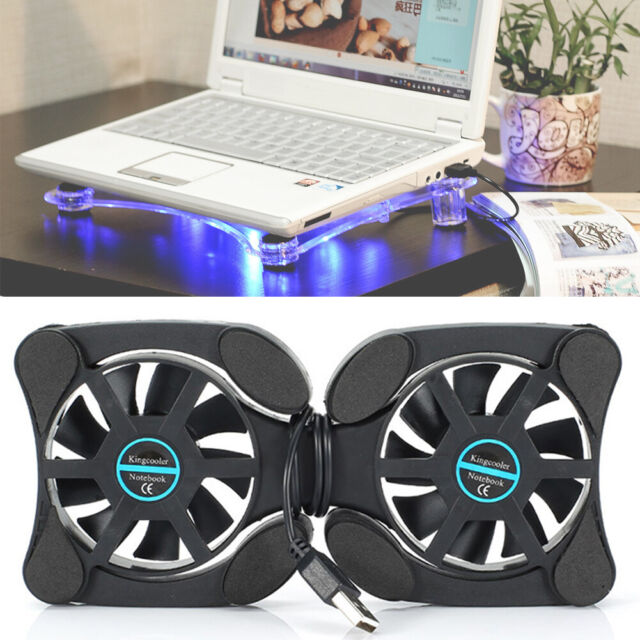Notebook Cooler Laptop Foldable USB Double Cooling Fan Pad Stand Computer