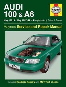 haynes audi a6 c4 100 91 97 t se e avant owners service manual rh ebay co uk owner's manual audi a6 audi a6 owners manual 2017