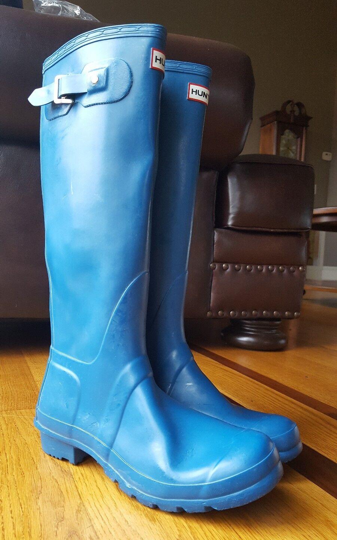 Hunter Original Para Para Para Mujer De Alto (17 ) Azul Goma botas De Lluvia Talla W23616 (9 M, 10 F). 7b68bb