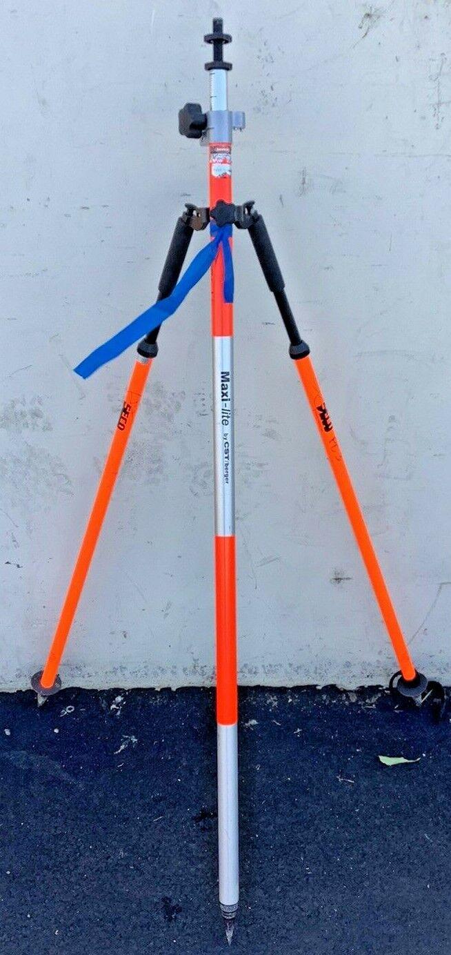 CST/berger Maxi-Lite Prism Pole W/ Seco Thumb-Release Prism Pole Bipod
