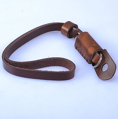 Brown Leather Camera Hand Wrist Strap for Canon Nikon Olympus Sony ILDC Camera