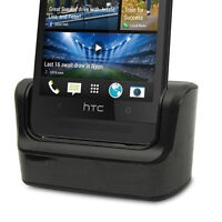 Charger Station Cradle Holder Dock + USB Data Sync Cable For HTC One M7