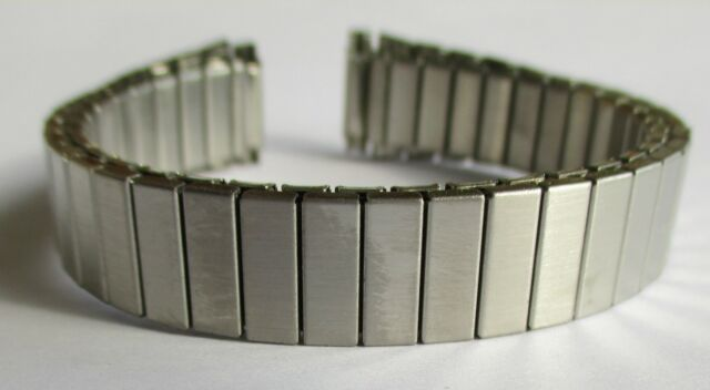 Flexarmband, Edelstahl, Stegbreite 16 - 20 mm, goldfarben, Elastikarmband