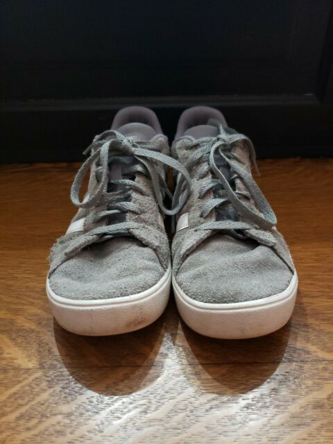adidas Kids Youth Gray Suede Daily 2.0