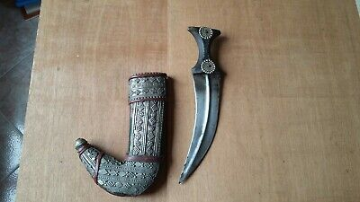Old Yemenity Jambiya Dagger Pugnale Yemen Originale Primi 900 Arabo Structural Disabilities Antiques Other Asian Antiques