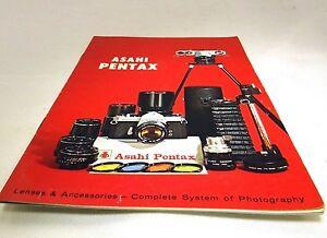 Asahi Pentax Spotmatic SP 1000 Camera Lens Accessory Brochure Guide (EN) 1970