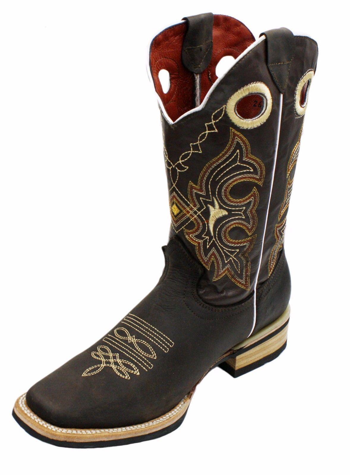 Men genuine cowhide Stiefel Western square toe cowboy Stiefel cowhide quality Stiefel Style: 741 829619
