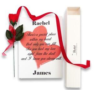 Valentines Day Personalised Poem In Scroll Box Girlfriend Boyfriend