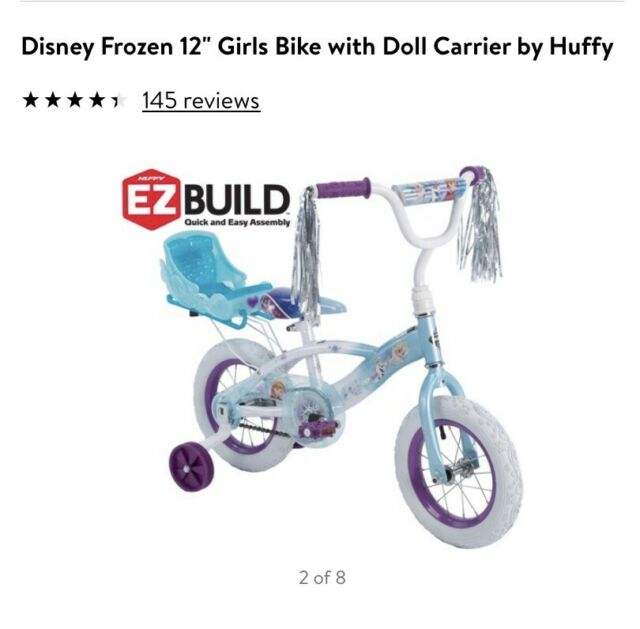Disney Frozen Huffy 12 Kids Bike Bicycle Training Wheels Doll Carrier In Hand For Sale Online Ebay