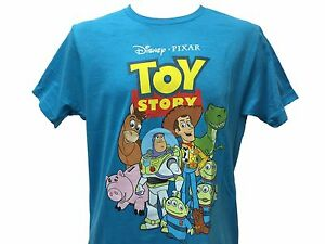 Disney pixar toy story woody buzz rex slinky hamm aliens for Pixar logo t shirt