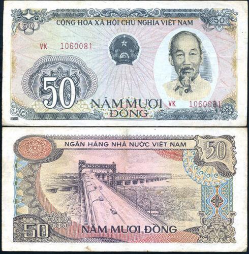 VIETNAM 50 DONG 1985 P 97 CIRCULATED