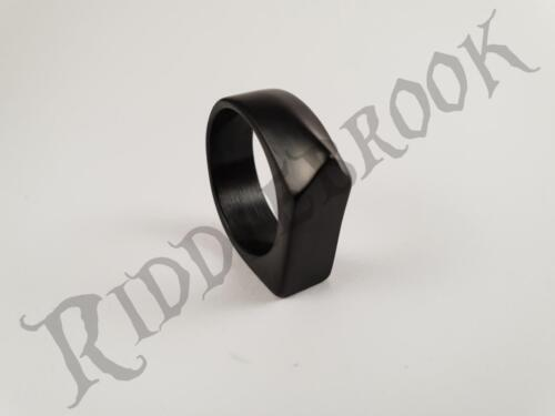 Stainless Steel Black anvil knuckle Biker ring Bikie outlaw duster