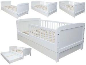 Kinderbett weiß mit schubladen  KINDERBETT / JUNIORBETT 140 X 70 WEISS MIT SCHUBLADE | eBay