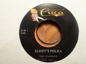 CUCA-45-RECORD-ELROY-BENZ-LEROYS-POLKA-RED-WINE-RED-LIPS-NR-MINT-POLKA