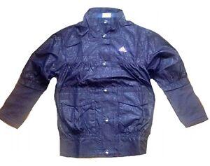 ADIDAS-bambine-maglia-tuta-giacca-poliestere-Guscio-Zip-9-10yr-color-prugna