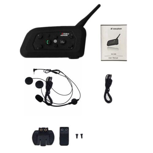 6 Rider 1200M BT Motorcycle/bike Interphone Bluetooth Helmet Intercom Headset J0