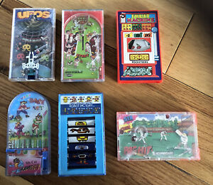 Vintage Toy Pocketeers Games By Tomy - Collection of 6 Games