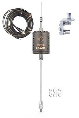 2 Stryker SR-A-10 CB//10 meter Radio Antennas 18ft dual coax,brackets and studs