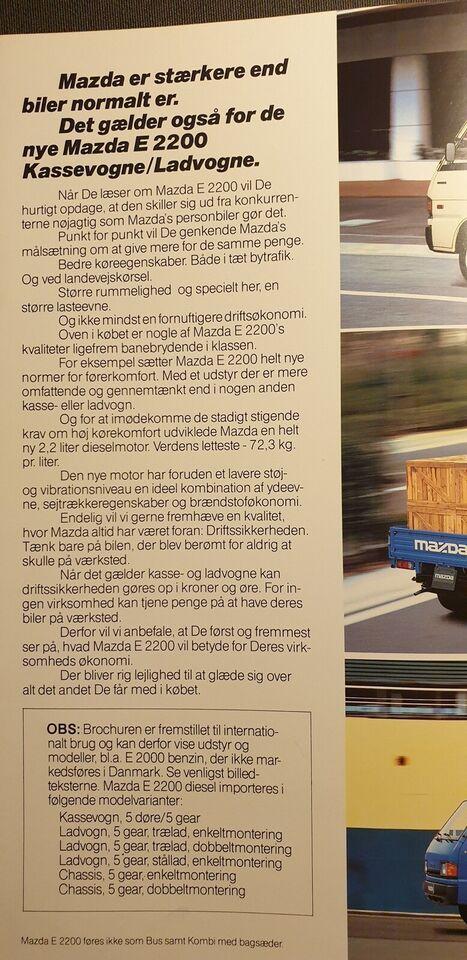 Brochure, Mazda E 2200
