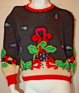 Berek Marta D 1989 Hand Knit Design Sweater Sz S Ebay