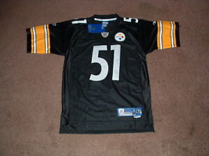 online store 5f3fa 59383 Details about JAMES FARRIOR #51 PITTSBURGH STEELERS BLACK PREMIER FOOTBALL  JERSEY SMALL NEW