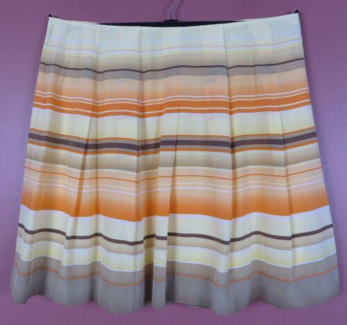 SK14893- TALBOTS Women's Silk Pleated Flared Skirt