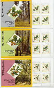 CROATIA-2002-Oak-Trees-booklets-of-10-stamps-MNH-Michel-615-17