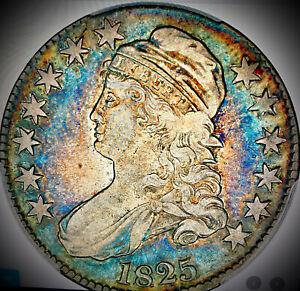 1825 capped bust half dollar pcgs vf30 overton 111